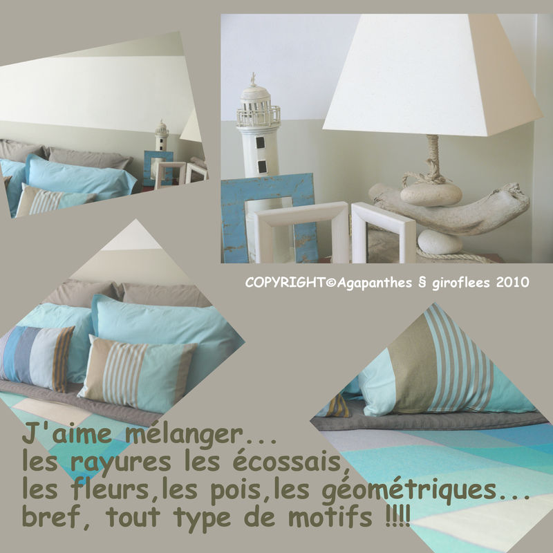 Deco mer agapanthes et giroflees for Housse de couette mer