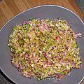 Salade de chou chinois et radis long