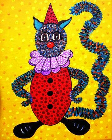 CARROUER Chat clown 2012 30 x 24