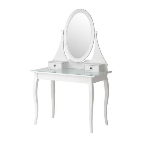 coiffeuse avec miroir blanc hemnes 199 chez ikea photo de mobilier et accessoir d co chez. Black Bedroom Furniture Sets. Home Design Ideas