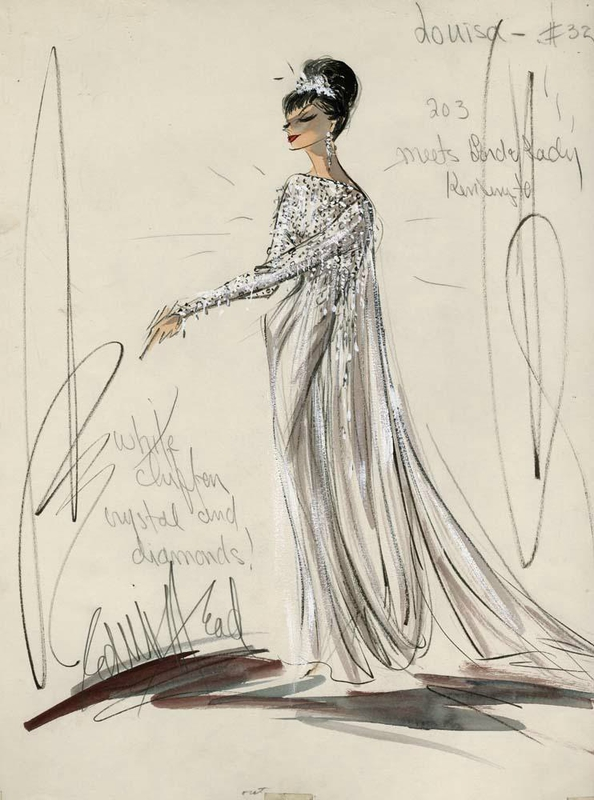 Edith Head pour Audrey Hepburn