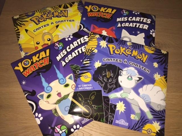 cartes à gratter pokémon yo kai watch