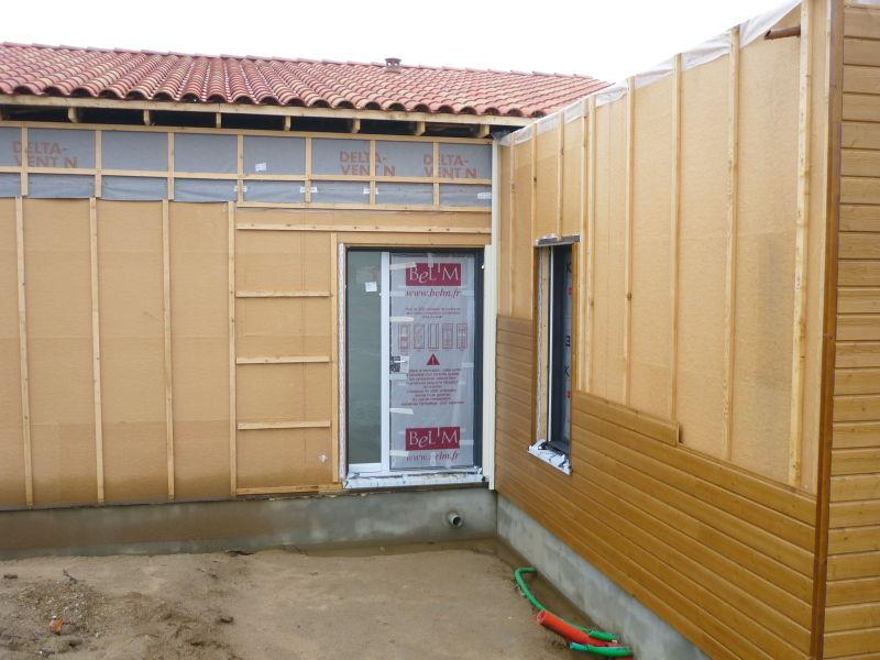 Pose de la porte d 39 entr e 18 01 2010 notre maison - Probleme maison ossature bois ...