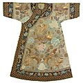 A rare imperial lady's informal gauze robe, qing dynasty, guangxu period
