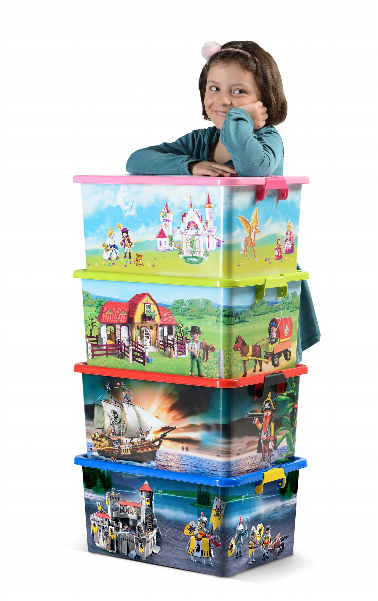 boite de rangement playmobil by my note deco ludi et. Black Bedroom Furniture Sets. Home Design Ideas