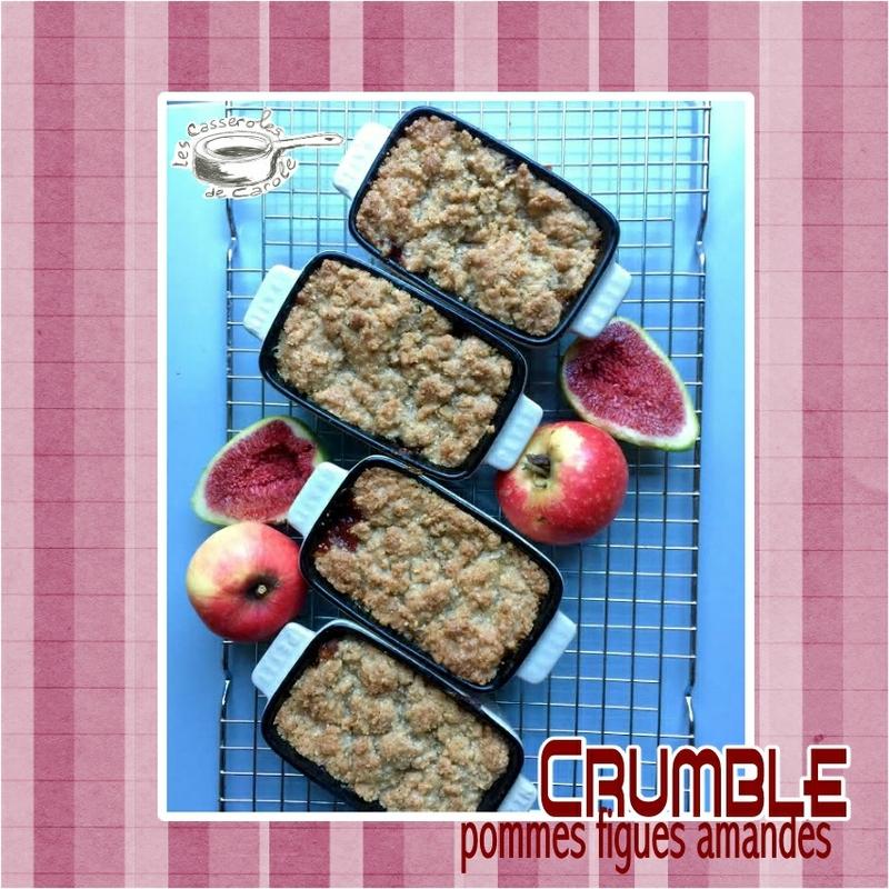 crumble pommes figues et amandes (scrap)