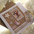Carte Joyeux Noël Fil and Kraft Marimerveille N°8