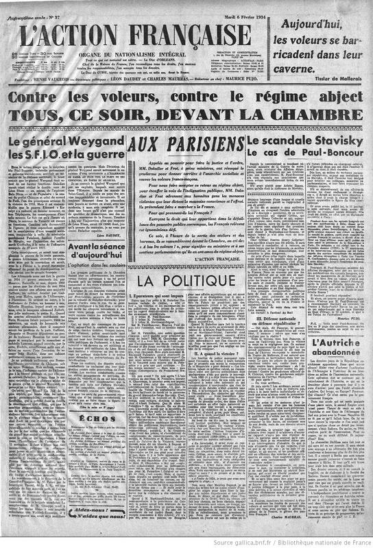 Action Française 6 février 1934