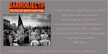 invitation Maison des photographes,1 juin 2011