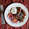 Kebapi & dip oignon rouge-aneth