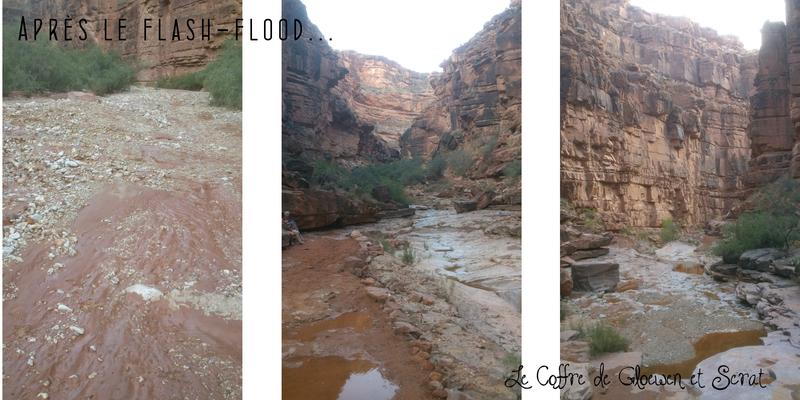 Après le Flash Flood au Grand Canyon - Juillet 2013 - Le Coffre de Gloewen et Scrat