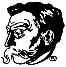 Manger du bon pain dans la cuisine avec Émile Adolphe Gustave Verhaeren, poète.