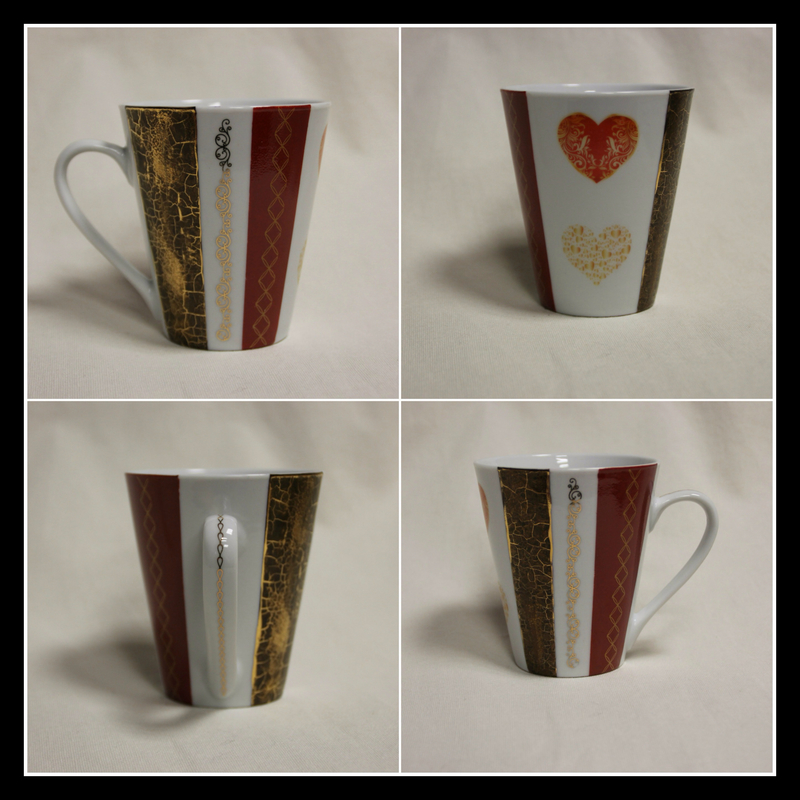 Mug marron et orange