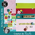 Kit atelier tiny album hors serie de juillet 2016, scrape par pamela