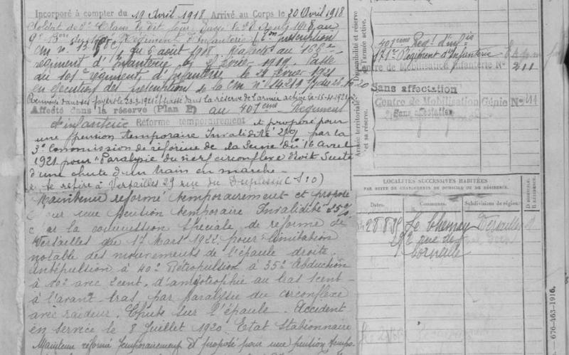 FM de quenech de quevelic cl 1915 bureau de Versailles_2