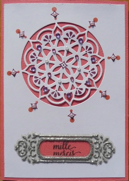 Carte rosace rose