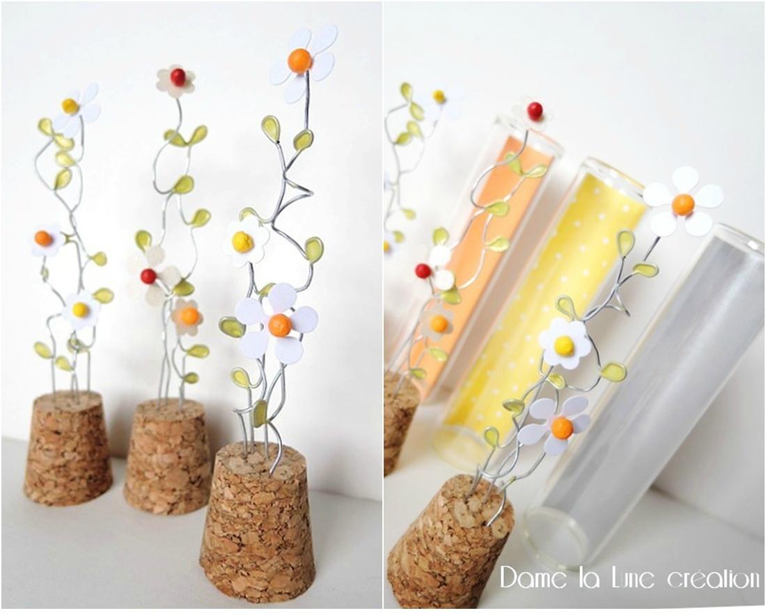 b- Collection tubes à essai...conter fleurettes