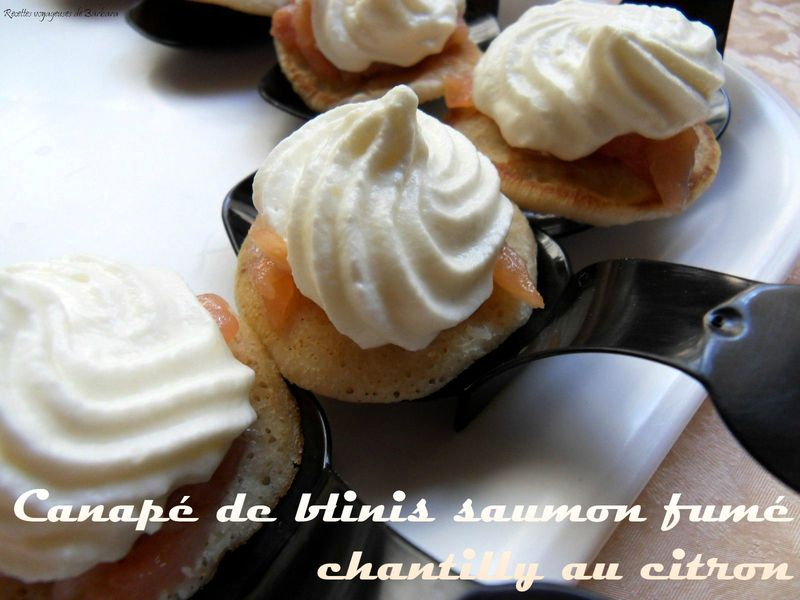 Canap de blinis saumon fume chantilly au citron for Canape saumon fume
