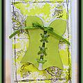 Carte bustier vert