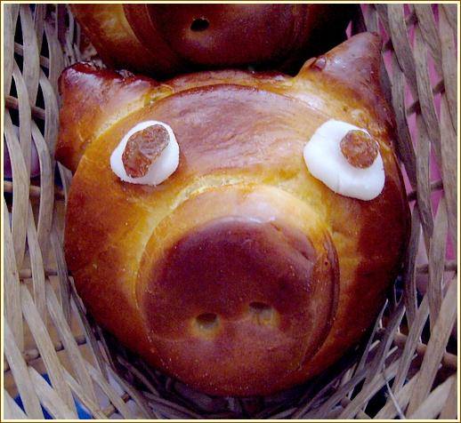 Brioche cochon