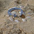 Je me suis amusée à faire voyager à l'océan, le bracelet cuir bleu et son fermoir ancre de bâteau pour vous montrer à quel point