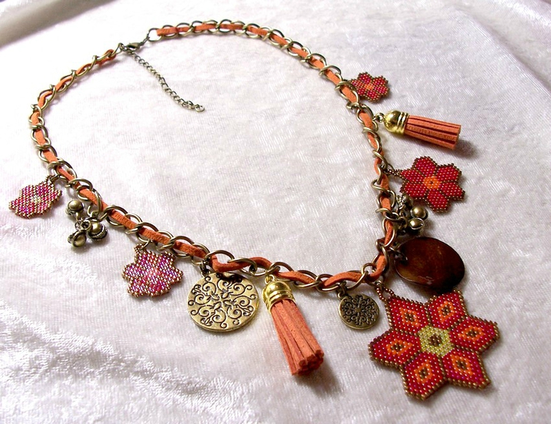 Collier Gypsi flower 4