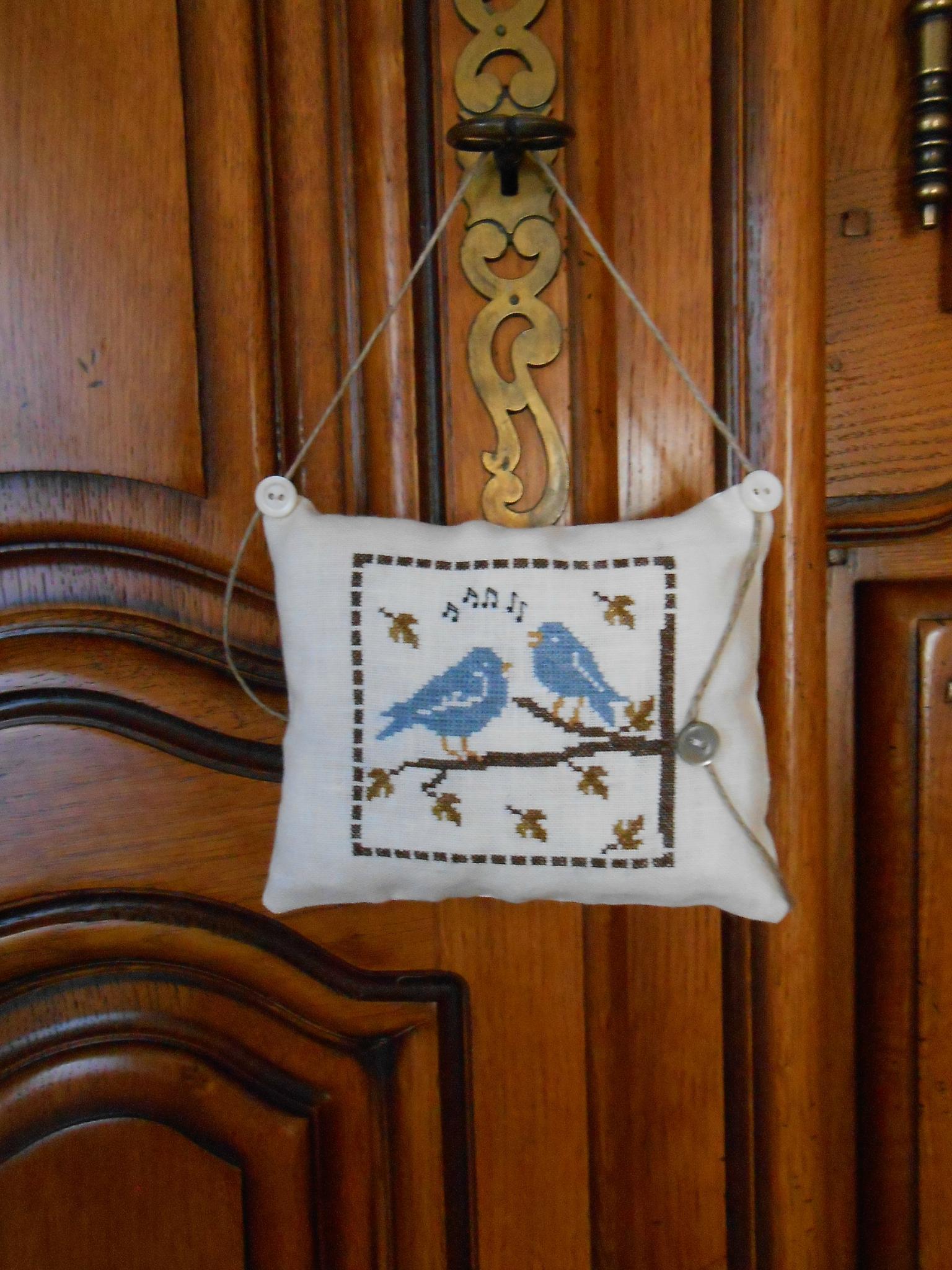 coussinet Automne aux oiseaux