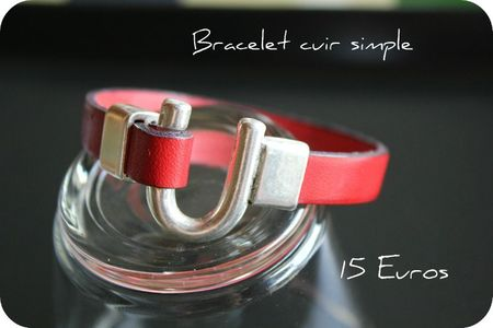 bracelet rouge crochet simple