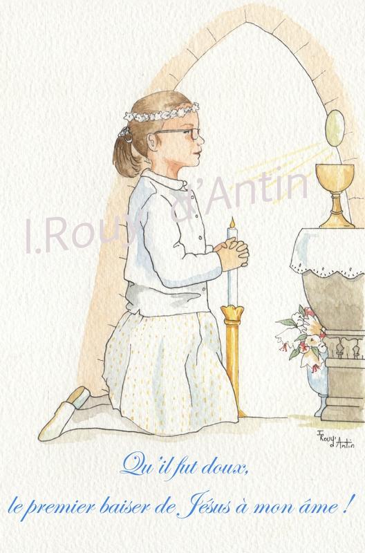 image 1ère communion Raphaelle