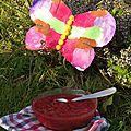 Compotée de rhubarbe et framboises