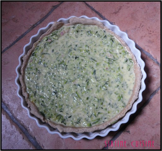 Quiche courgettes lardons 3