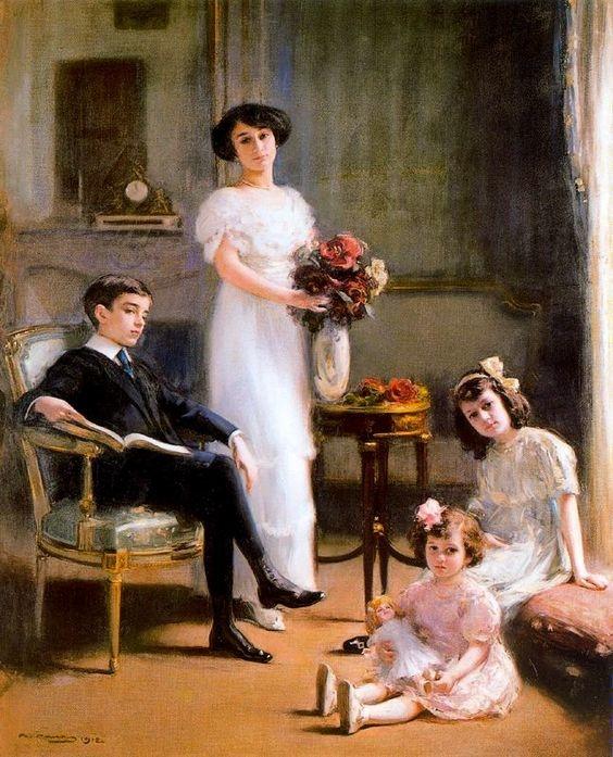 Ramon_Casas_i_Carb___1866_1932____Retrato_de_la_familia_S_nchez_de_Larragoiti__1912
