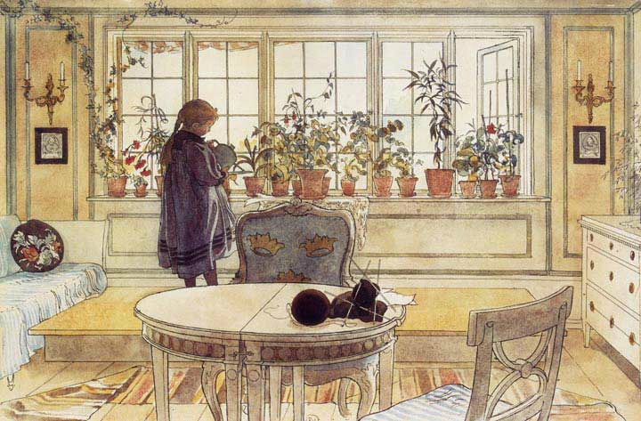Carl Larsson - Flower Window
