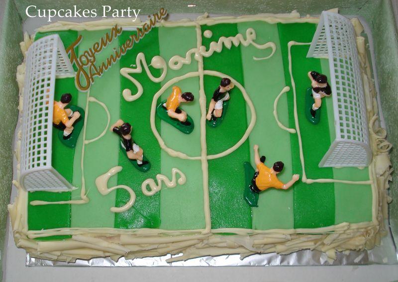 gâteau terrain de foot - cupcakesparty à marseille