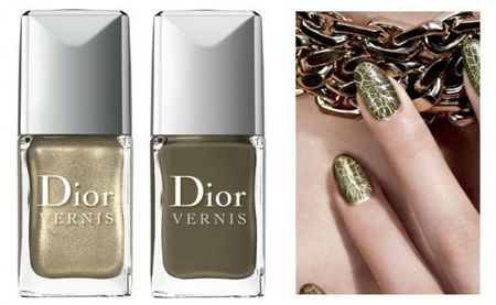 Duo Vernis or et top coat fini croco, Golden Jungle