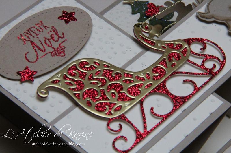 Carte double Z - Traîneau de Noël 3