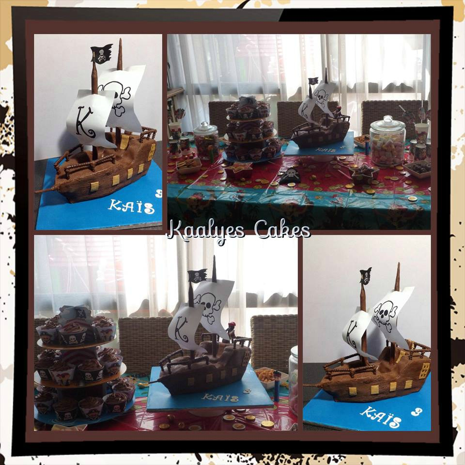 Gâteau bateau de pirate & sweet table pirate