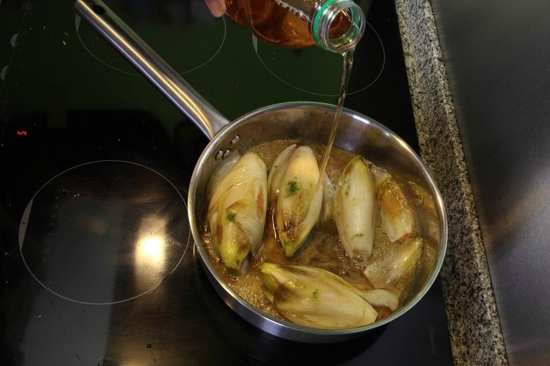 E4 endives glacees a la Normande recette Steven Ramon Topchef LE MIAM MIAM BLOG