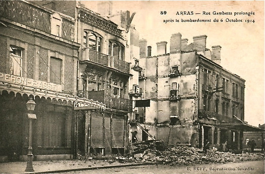 arras bombardement 6 oct 1914