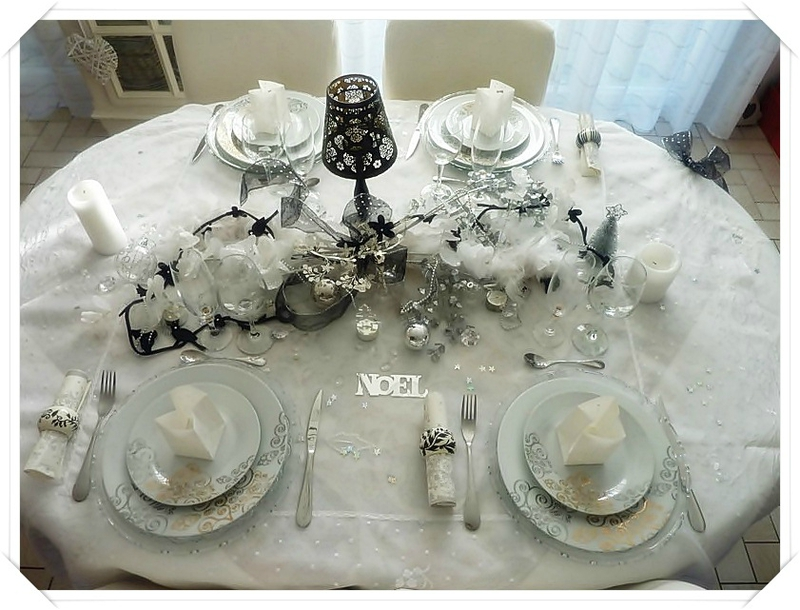 Ma table charme baroque de no l nicole passions for Table de noel chic