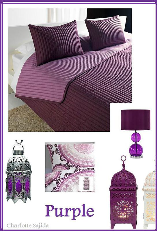 d coration chambre violet. Black Bedroom Furniture Sets. Home Design Ideas