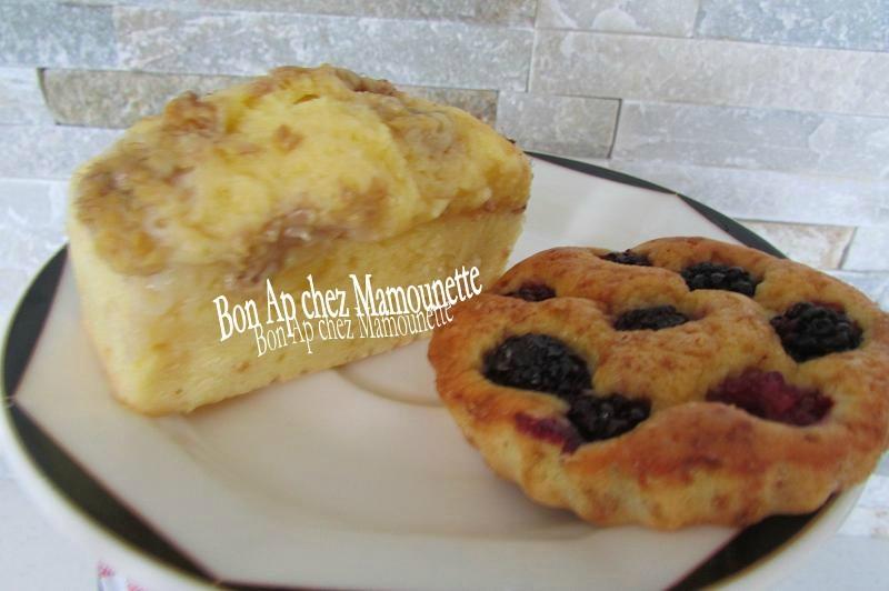 petits gâteaux mascarponés framboises jaunes, rouges et mûres 017
