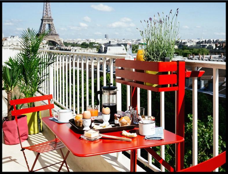 Table balcon rabattable bac de rangement fermob le - Meuble de rangement pour balcon ou terrasse ...