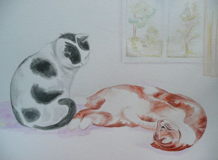 Aquarelle_chats