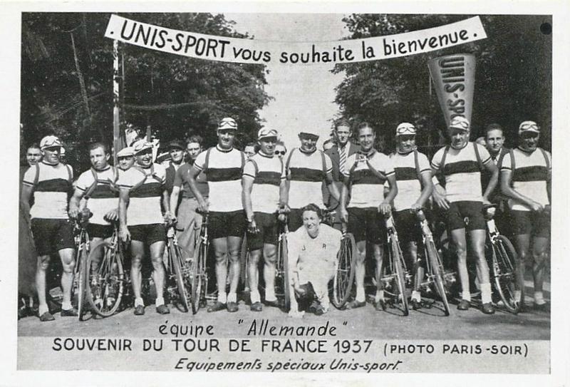 CPA Tour de France 1937 Equipe Allemagne