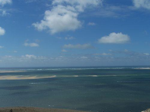 Dune du Pyla-Vue sur le Banc d'Arguin