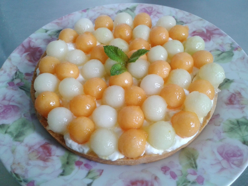 tarte au melon (du chef Custos)