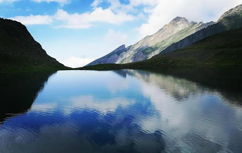 Gourette, R, Les trois Lacs, lac d'Anglas, fin de journée, insta