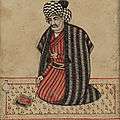 Portrait of Majlisi, 1670-80. Safavid period. Iran