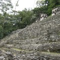 Bonampak - Side view of Acropolis (Building 8,7)